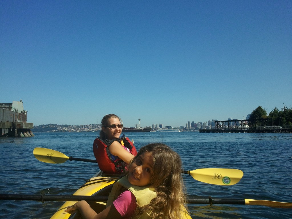 Kayaking on Elliott Bay